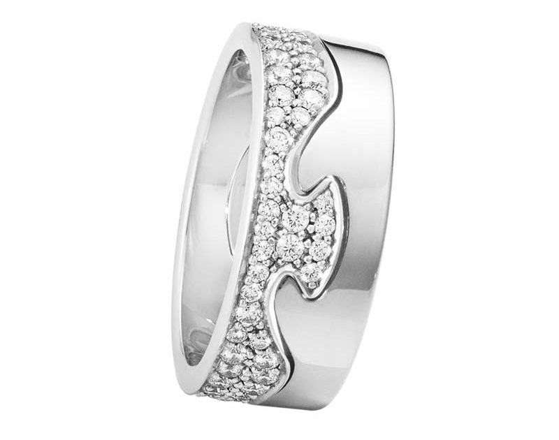 Georg Jensen Fusion 2-delad Ring VG/Pavé