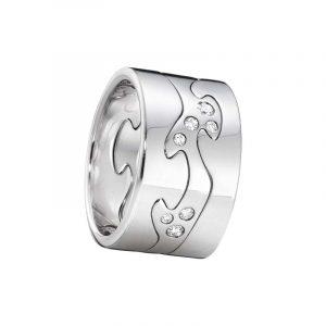 Fusion 3-delad Ring VG/VG/Diamanter - Georg Jensen ringar - Snabb frakt & paketinslagning - Nordicspectra.se
