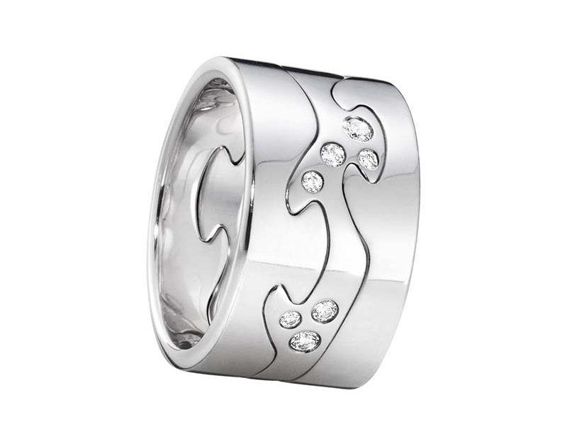 Georg Jensen Fusion 3-delad Ring VG/VG/Diamanter