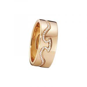 Fusion 2-delad Ring RG/Diamanter - Georg Jensen ringar - Snabb frakt & paketinslagning - Nordicspectra.se