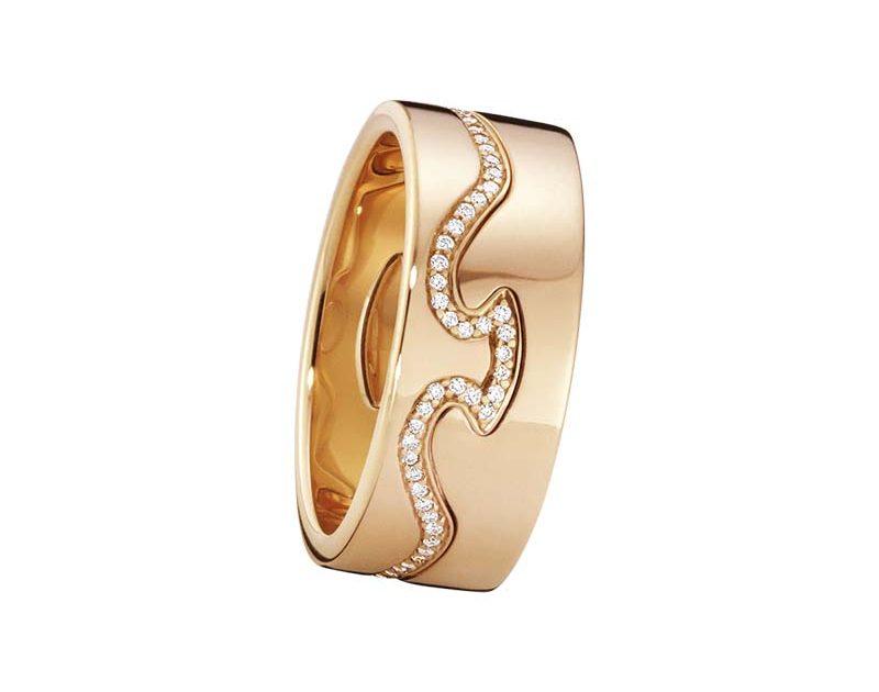 Georg Jensen Fusion 2-delad Ring RG/Diamanter