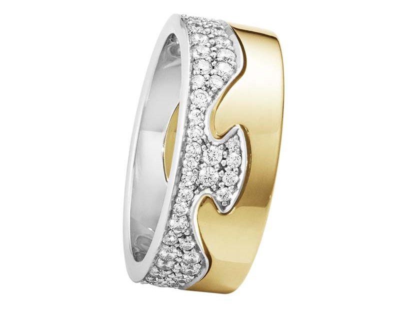 Georg Jensen Fusion 2-delad Ring RG/Pavé