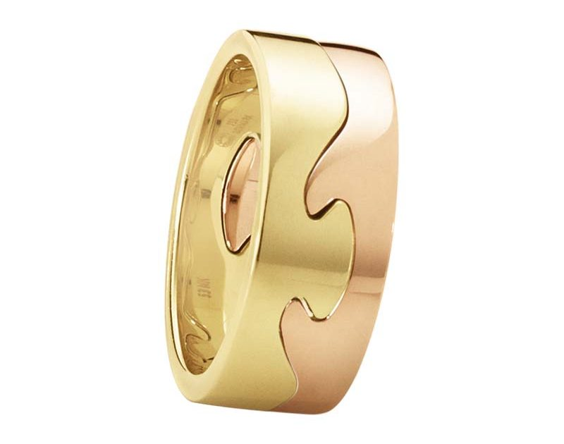 Georg Jensen Fusion 2-delad Ring RG/RG