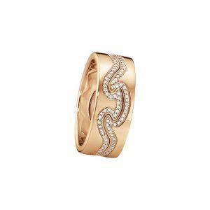 Fusion 2-delad Ring RG/RG/Diamanter - Georg Jensen ringar - Snabb frakt & paketinslagning - Nordicspectra.se
