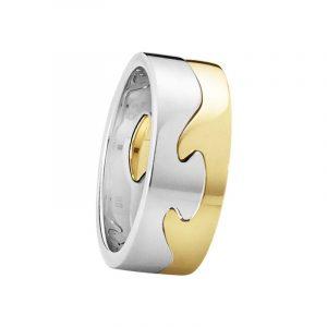 Fusion 2-delad Ring RG/VG - Georg Jensen ringar - Snabb frakt & paketinslagning - Nordicspectra.se
