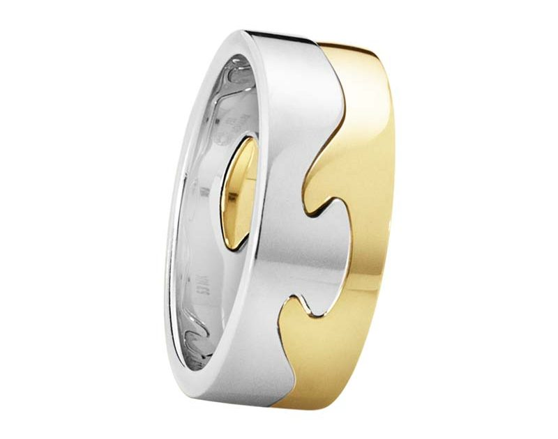 Georg Jensen Fusion 2-delad Ring RG/VG