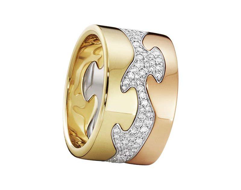 Georg Jensen Fusion 3-delad Ring RG/VG/Pavé