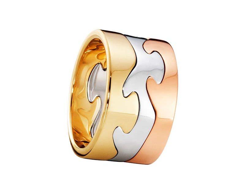 Georg Jensen Fusion 3-delad Ring RG/VG/RG