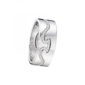 Fusion 2-delad Ring VG/Diamanter - Georg Jensen ringar - Snabb frakt & paketinslagning - Nordicspectra.se