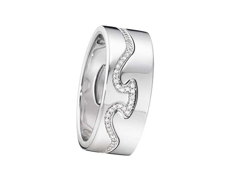 Georg Jensen Fusion 2-delad Ring VG/Diamanter