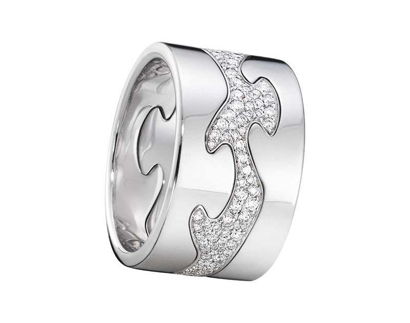 Georg Jensen Fusion 3-delad Ring VG//VG/Pavé