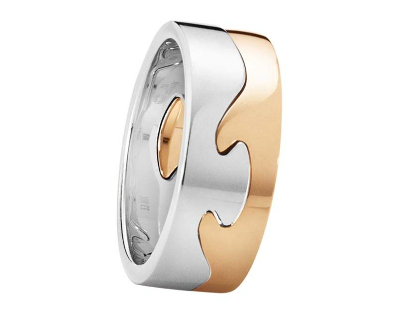 Georg Jensen Fusion 2-delad Ring VG/RG