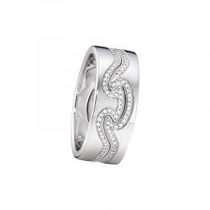 Fusion 2-delad Ring VG/VG/Diamanter - Georg Jensen ringar - Snabb frakt & paketinslagning - Nordicspectra.se