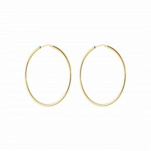 Letters Hoop Ear Gold -CU Jewellery - Snabb frakt & paketinslagning - Nordicspectra.se