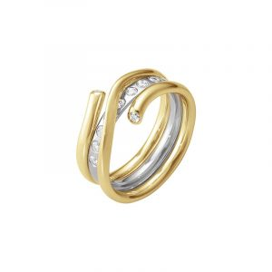Magic Ringkombination RG/VG/Diamanter - Georg Jensen ringar - Snabb frakt & paketinslagning - Nordicspectra.se