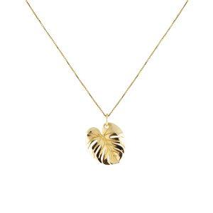 Palm Leaf Necklace Gold - Emma Israelsson - Snabb frakt & paketinslagning - Nordicspectra.se