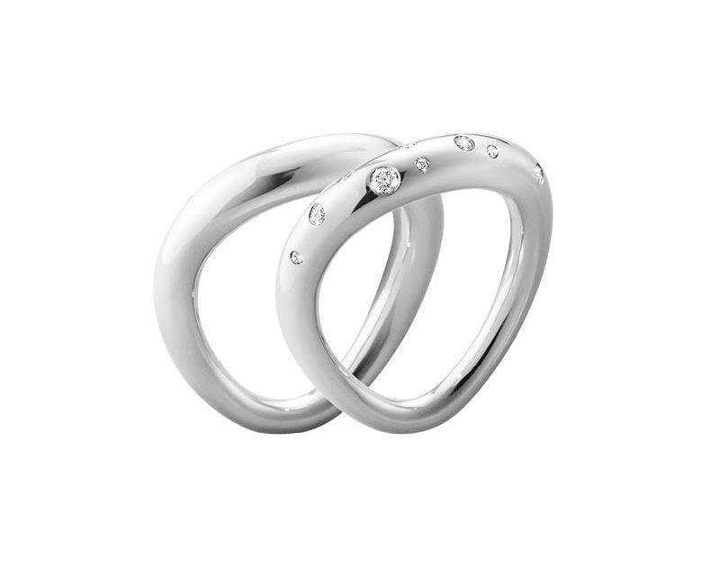Georg Jensen Offspring Ringkombination med Diamanter