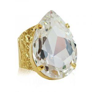 Perfect Drop Ring Gold Crystal - Caroline Svedbom - Snabb frakt & paketinslagning - Nordicspectra.se
