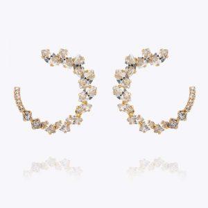 Angie Earrings Gold Crystal - Caroline Svedbom - Snabb frakt & paketinslagning - Nordicspectra.se