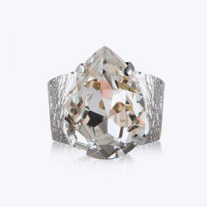 Classic Drop Ring Rhodium Crystal - Caroline Svedbom - Snabb frakt & paketinslagning - Nordicspectra.se